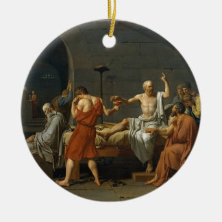 The Death of Socrates Round Ceramic Ornament
