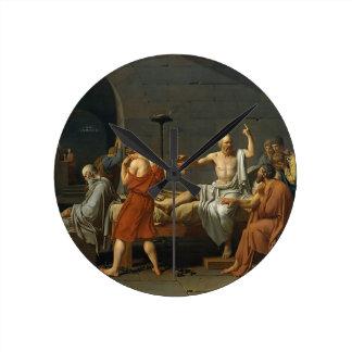 The Death of Socrates Round Clock