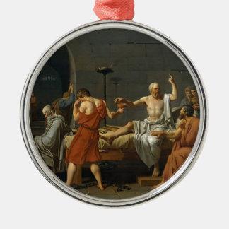 The Death of Socrates Silver-Colored Round Ornament