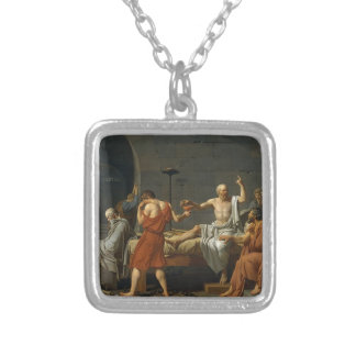 The Death of Socrates Silver Plated Necklace