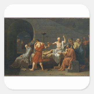 The Death of Socrates Square Sticker