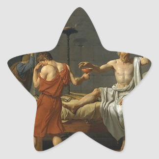The Death of Socrates Star Sticker