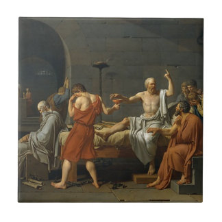 The Death of Socrates Tile