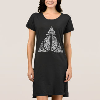 The Deathly Hallows Typography Graphic Dress