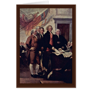 The Declaration Of Independence Detail By Trumbull Card