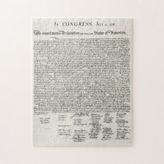 The Declaration of Independence Jigsaw Puzzle
