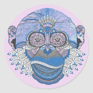 The Decorated Monkey Classic Round Sticker