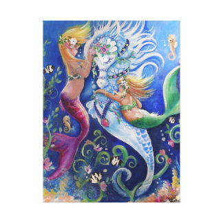 The Decorated Waterhorse Canvas Print