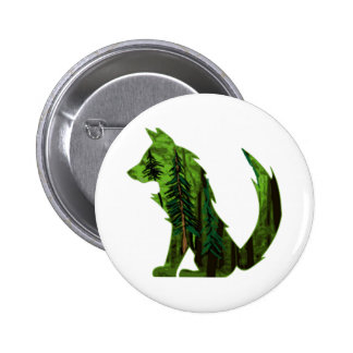 THE DEEP FOREST 2 INCH ROUND BUTTON