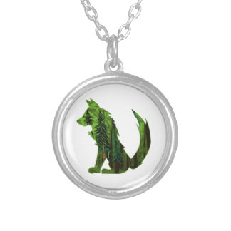 THE DEEP FOREST SILVER PLATED NECKLACE