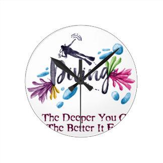 The Deeper You Go, The Better It Feels Wallclocks