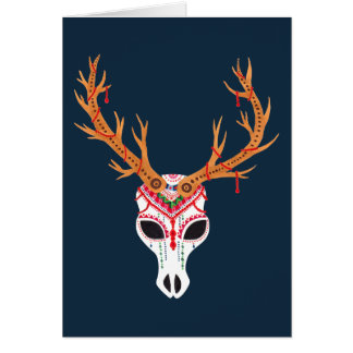 The Deer Head Skull Card