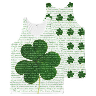 The Deer's Cry Poem Song Saint Patrick Shamrock All-Over-Print Tank Top