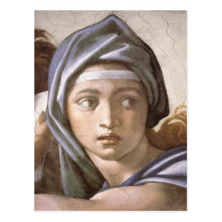The Delphic Sibyl in detail Postcard