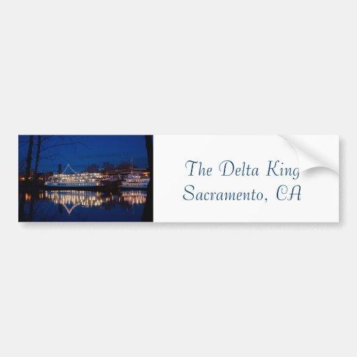 The Delta King at night - Sacramento, CA Bumper Sticker