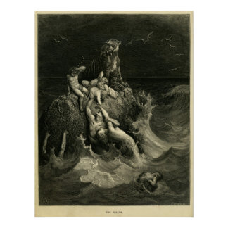 The Deluge by Gustave Dore based on Noah's Ark Poster