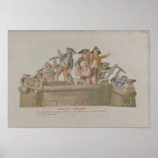 The Demolition of the Bastille, July 1789 Poster
