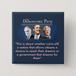 The Demoncratic Party 2 Inch Square Button