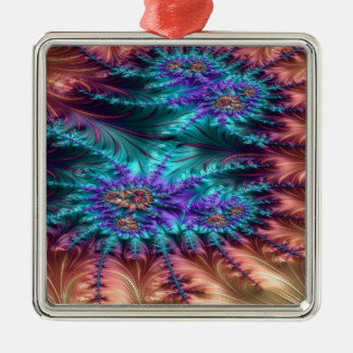 The Demoralized Stain Fractal Design Metal Ornament