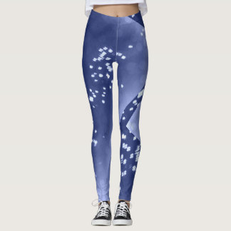the denim and dots wrapped leggings look
