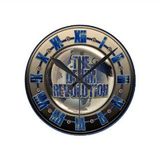 The Denim Revolution Round Clock