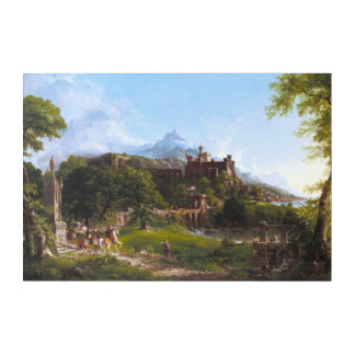 The Departure by Thomas Cole Acrylic Wall Art