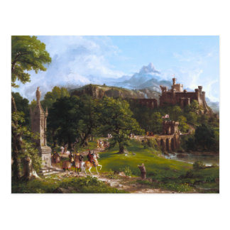The Departure by Thomas Cole Postcard
