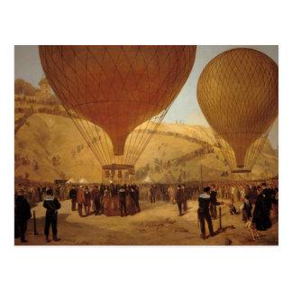 The Departure of Leon Michel Gambetta Postcard