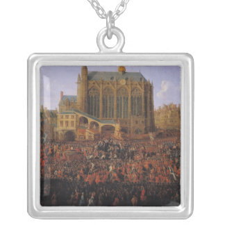 The Departure of Louis XV  from Silver Plated Necklace