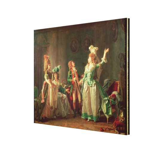 The Departure of the Dragoon Guard, 1774-1819 Stretched Canvas Print
