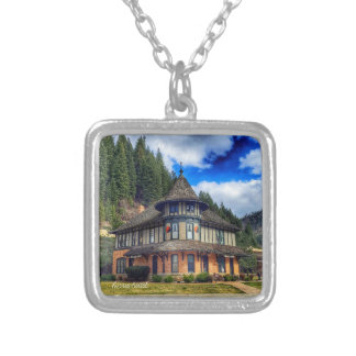 The Depot in Wallace Idaho Silver Plated Necklace