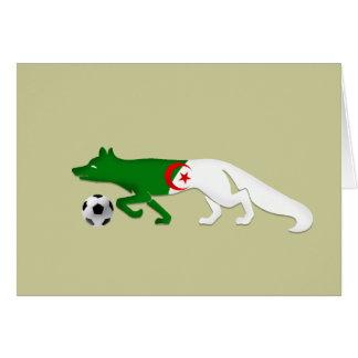 The Desert fox Algeria flag Le Fennec soccer gifts Card