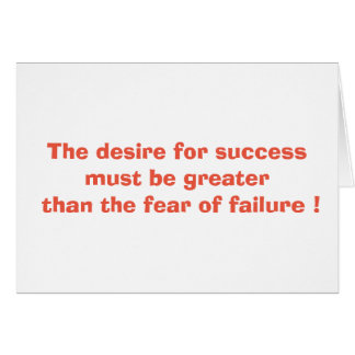 The desire for success greeting card