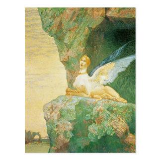 The Despair of the Sphinx, 1890 Postcard