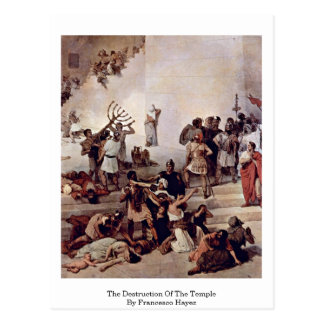 The Destruction Of The Temple By Francesco Hayez Postcard
