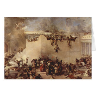 The Destruction Of The Temple Of Jerusalem Card