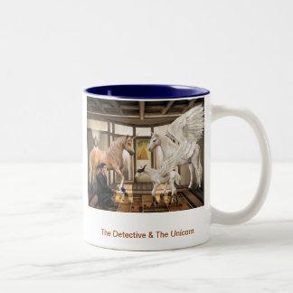 The Detective & The Unicorn Two-Tone Coffee Mug