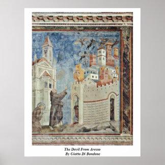 The Devil From Arezzo By Giotto Di Bondone Poster