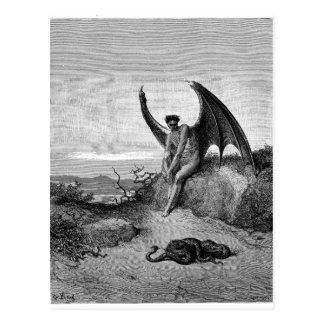 The Devil, Gustave Dore Postcard