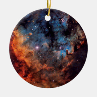 The Devil Nebula Round Ceramic Ornament
