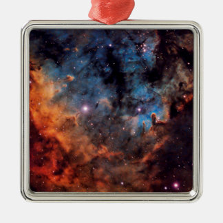 The Devil Nebula Silver-Colored Square Ornament
