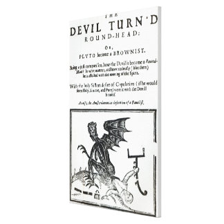 The Devil turn'd Round-Head', c.1642 Stretched Canvas Prints