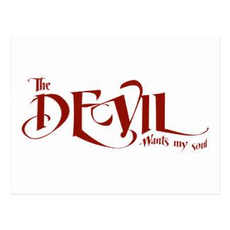 The devil wants my soul postcard