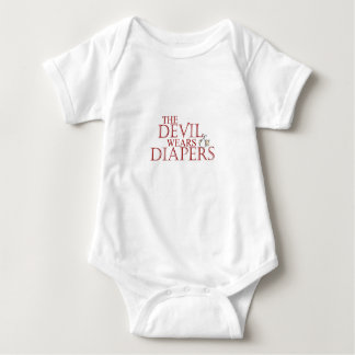 The Devil Wears Diapers Baby Bodysuit