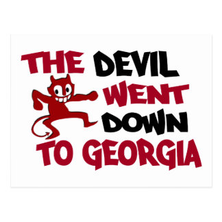 The Devil Went Down to Georgia Postcard