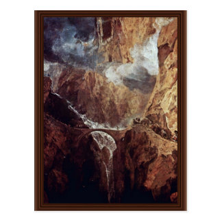 The Devil'S Bridge St. Gotthard By Turner Joseph M Postcard