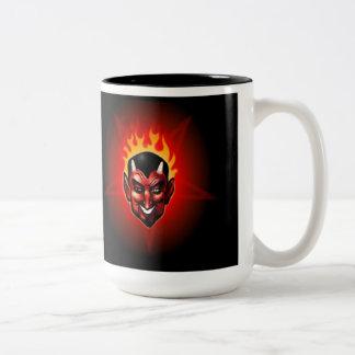 The Devil's Pentagram Two-Tone Coffee Mug