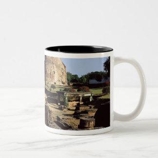 The Dhamekh stupa, c.500 AD Two-Tone Coffee Mug