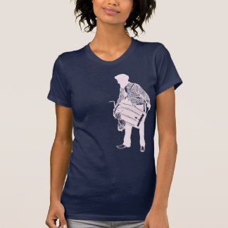The Dholi - Pink on Navy T-Shirt