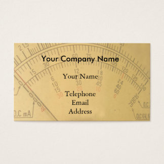 The Dial of a Vintage Amp Metre Business Card